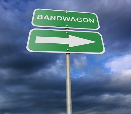 Street Road Sign Bandwagon